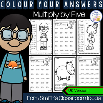 Colour By Numbers Multiply By Five Colour By Code UK Version