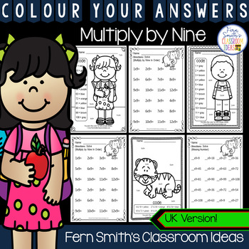 Colour By Numbers Multiply By Nine Colour By Code UK Version