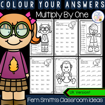 Colour By Numbers Multiply By One Colour By Code UK Version