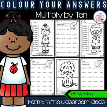 Colour By Numbers Multiply By Ten Colour By Code UK Version