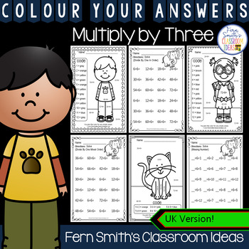 Colour By Numbers Multiply By Three Colour By Code UK Version