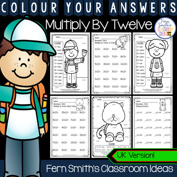 Colour By Numbers Multiply By Twelve Colour By Code UK Version