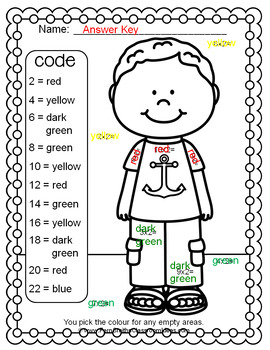 Colour By Numbers Multiply By Two Colour By Code UK Version