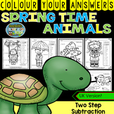 Colour By Numbers Spring Time Two-Step Subtraction UK Version