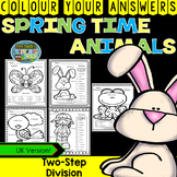 Colour By Numbers Spring Time Animals Two-Step Division UK Version