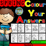 Colour By Numbers Sunny Spring Time Know Your Numbers UK Version
