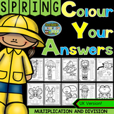 Colour By Numbers Spring Time Two-Step Multiplication and