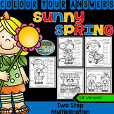 Colour By Numbers Sunny Spring Two-Step Multiplication UK Version