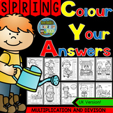 Colour By Numbers Sunny Spring Two-Step Multiplication and