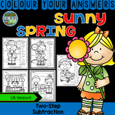 Colour By Numbers Sunny Spring Two-Step Subtraction UK Version