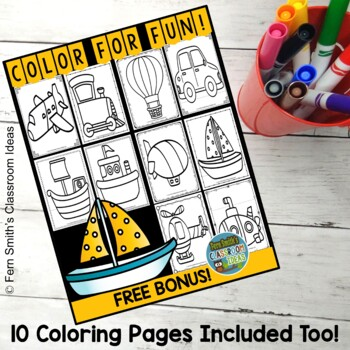 Colour By Numbers Transportation Addition UK Version Bonus Coloring Pages