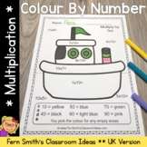 Colour By Numbers Transportation Multiplication UK Version