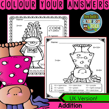Colour By Numbers Trolls Addition UK Version