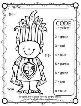 Colour By Numbers Trolls Addition and Subtraction Bundle UK Version