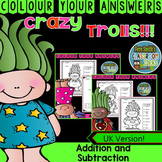 Colour By Numbers Trolls Addition and Subtraction Bundle U