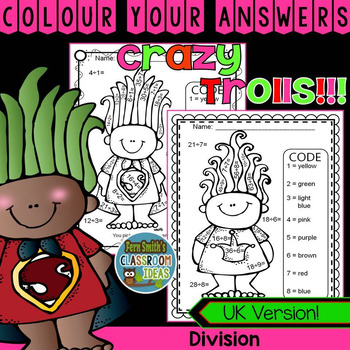 Colour By Numbers Trolls Division UK Version