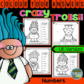 Colour By Numbers Trolls Know Your Numbers UK Version