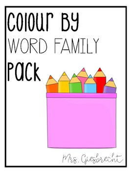 Colour By Word - Word Family Pack