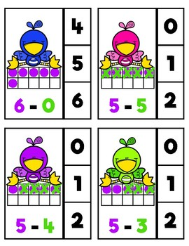 Colour-Coded Subtraction: Birdies