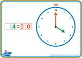 Colour Coded Telling the Time Course - Analog and Digital - Stage 1