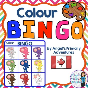 Colour (Color) Bingo Game:  Canadian Edition