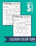 Colour/Color Fun Worksheet