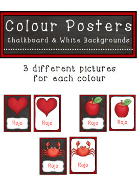 Colour/Color Posters Spanish