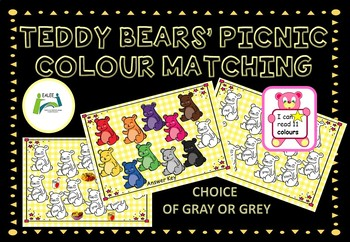 Colour / Color Word Reading and Matching Bears