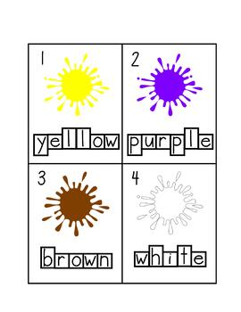 Colour/Color Write Around the Room Cards
