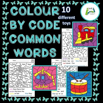 Colour / Color by Code Common Words
