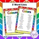 Colour/Colors Vocabulary Pack- Word Lists, Flash Cards & A