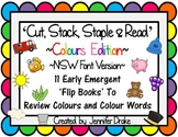Colour & Colour Words 'Cut, Stack, Staple, Read' Flip Books ~NSW Font Version~
