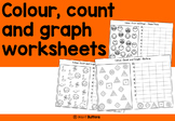 Colour Count and Graph worksheets (color) - graphing - no prep