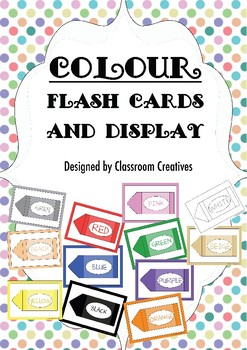 Colour Crayon Display or Flash Cards - The Day the Crayons Quit