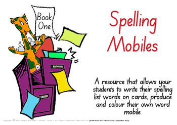 Colour & Create - Spelling Mobiles Book One