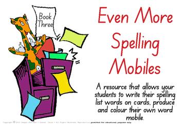 Colour & Create - Spelling Mobiles Book Three