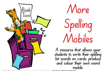 Colour & Create - Spelling Mobiles Book Two