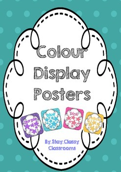 Color Display Posters - Including grey & gray