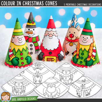 Christmas Craft: Colour In Christmas Cones