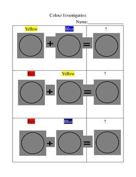 Colour Investigation Worksheet