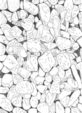 Colour It In Worksheet: Beach Pebbles