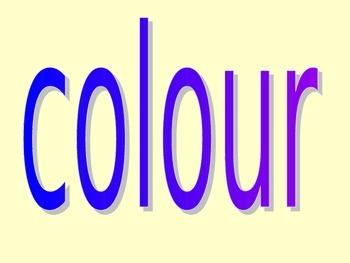 Colour Lesson Powerpoint