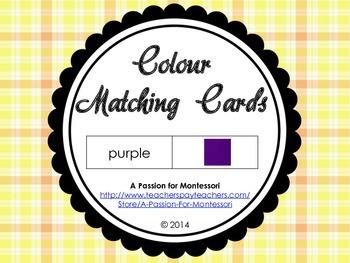 Colour Matching Cards, 11 basic colours, basic reading, Mo