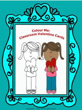 Colour Me Classroom Valentine Cards