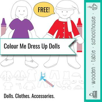 Colour Me Dress Up Doll