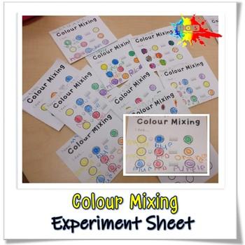 Colour Mixing Experiment Sheet