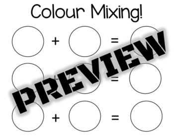 Colour Mixing Printable
