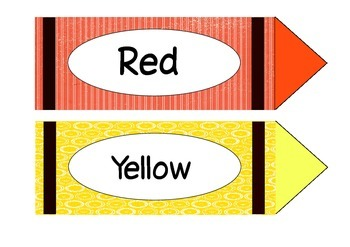 Colour Name Crayons
