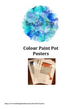 Colour Paint Cans Posters