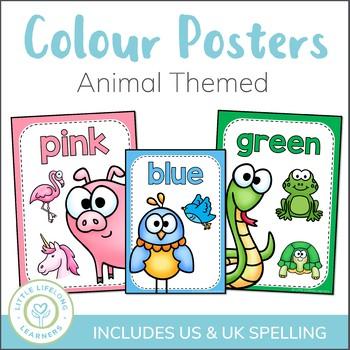 Colour Posters - Animal Theme - Classroom Decor